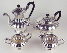 TEA SET Birks Regency Silverplate TEAPOT COFFEE CREAMER SUGAR ep copper MELON