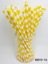 25 pcs Paper Drinking Straws Horizontal Stripe Drinking Straw For Party color 16