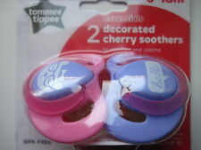TOMMEE TIPPEE   DECORATED CHERRY SOOTHERS  6-18 months x 2