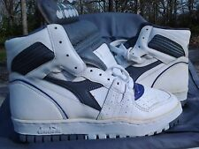Vintage 1980's Diadora Slam White drk Grey Purple DS OG Size 8.5