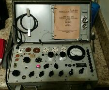 Vintage US Army/Navy Military Test Set Electron Tube Tester TV-7/U  AU - BU - DU