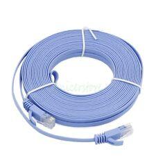 20M 65ft UltraThin CAT6 RJ45 Ethernet Network LAN Internet Cable Flat UTP Blue