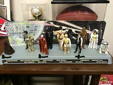 1977 1978 Vintage Star Wars Figure Set Mail Away Display Stand Missing One