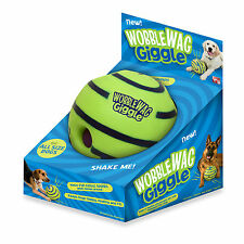 Wobble Wag Giggle Ball Dog Doggy Indoor Outdootr Pet Toy Rolling Shaken w/Sound