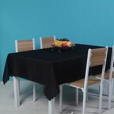 20 Colors Pure Color Oversized Rectangular Dining Table Cloth For Party Home
