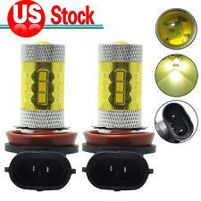 2x H11 H8 LED Fog Light Samsung 2323 60W 4300K Yellow Driving DRL Projector Bulb