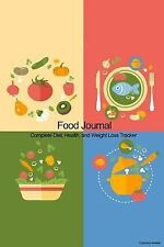 Food Journal: Complete Diet, Health, and Weight Loss Tracker - Colorful Meals...