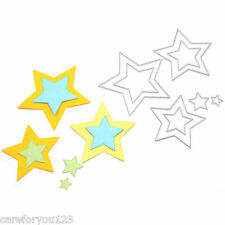 8XBasic Stars Sizzix Big Shot Die Cuts Metal Die Cutting Dies Scrapbooking Decor