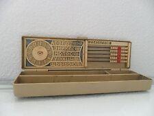 Vintage USSR Soviet Pencil Box Multifunctional School Pen Case Collectibles 70s