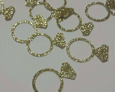 Wedding Ring Gold Glitter Table Confetti wedding or bridal shower table decor