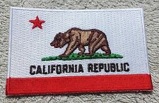CALIFORNIA STATE FLAG PATCH United States of America Embroidered Badge 6x9cm USA