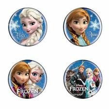 NEW Disney Frozen Princess Elsa Anna Kristoff Olaf Movie 4 Pin Button Badge Set