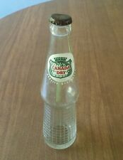 Vintage Canada Dry Glass Soda Bottle, 1956