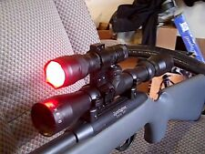 Scope Mounted Gun Light Red 800 Lumen Fox,Coyote,Bear,Raccoon Night Hunting