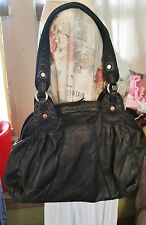 Lucky Brand Genuine Black Italian Leather Hobo Purse Handbag Shoulder bag