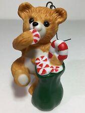 Hallmark Christmas Tree Ornament Keepsake - Cinnamon Bear - 1989 - Porcelain