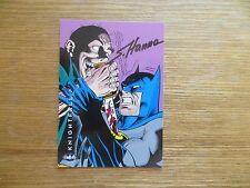 1994 BATMAN SAGA OF THE DARK KNIGHT KNIGHTFALL CARD SIGNED SCOTT HANNA, WITH POA