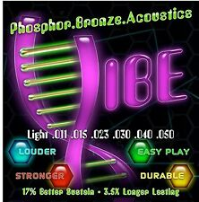 Acoustic Guitar Strings Light 80/20 by Vibe Strings