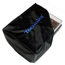 DMC Turntable Dust Cover Technics Deck Logo Black & Embroidered Electric Blue