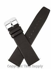 20mm BROWN CALF LEATHER WATCHBAND WITH SPRING BARS