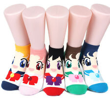 Sailor Moon Women's Socks 6pairs(6color)=1pack Made in Korea
