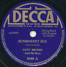 78 - 13BB - HILLBILLY - DECCA 5485 - CLIFF BRUNER AND HIS BOYS