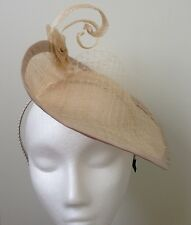 Gorgeous Classic beige  Sinamay Fascinator/cocktail hat