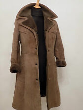 Sheepskin Style Coat Suede Leather  Bomber Flying Jacket Fur lined