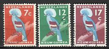 Dutch New Guinea - 1959 Definitives bird - Mi. 54-56 VFU