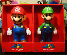 "NEW 2 pc / set Super Mario bros & LUIGI game action figure statue toys gifts 9""!"