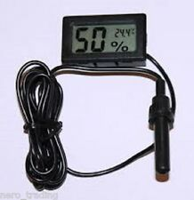 Digital LCD Thermometer  Hygrometer & Probe - Reptile / Vivarium /  TH04 Uk