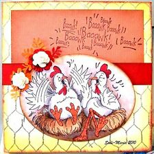 CHICKEN WIRE (You get Photo # 2) L@@K@examples art impressions rubber stamps
