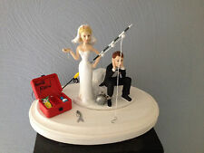 Cake Topper Bridal Weddding Funny Ball Chain Humorous Going Gone Fishing Theme
