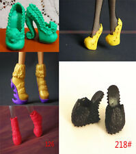 5 Pairs Different Shoes High Heels Boots for Monster High Doll Dress Accessories