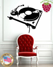 Wall Stickers Vinyl Decal Music Antique Turn-Table Phonograph Gramophone (EM560)