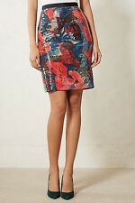 NWT Anthropologie Sugared Fleur Sequins pencil Skirt sz 6 by Wolven
