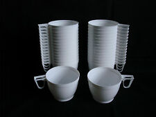 Set 30 Plastic White Coffee / Tea Mugs Cups  for Party Supplies 170ml (6 oz) New