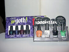 2x OPI HALLOWEEN Mini Sets **GO GOTH! & SPOOKETTES** Nail Polish~Bracelet~NEW