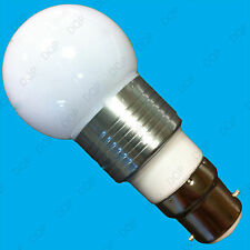 1x 3W LED Round Golf Light Bulb 6400K Daylight White BC B22 Lamp, 85V to 265V
