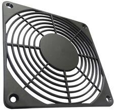 2x Grille noire de protection 120x120mm ventilation pour ventilateur boîtier PC