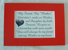 MY FRIEND MY MOTHER IN LAW God Made STEPMOTHER Heart LOVE verses poems plaques