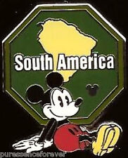 Disney Pin: WDW Hidden Mickey 2012 - Continent Stamps: South America
