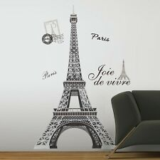 "New 56"" EIFFEL TOWER GIANT WALL DECALS Mural France Paris Stickers Room Decor"