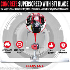 NEW Honda Powered GX35 4 Stroke Concrete Finishing Screed Trowel With 8ft Blade
