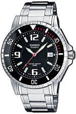 Casio mtd-1053d -1 aves reloj hombre de acero inoxidable diver submarinista reloj 200 metros nuevo