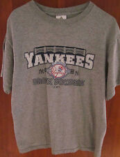 NEW YORK YANKEES baseball small T shirt Bronx Bombers tee Adidas pinstripes 2003