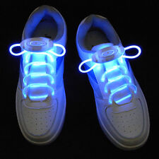 Blue LED Light Up Shoelaces Waterproof Shoestring - 3 Modes