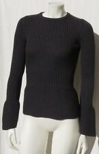 JOSEPH Italy Women's Gray 100% Extrafine Wool Rib Knit Sweater size S