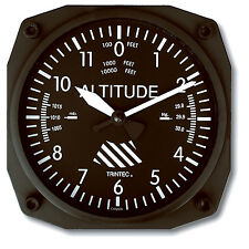 "Trintec Classic Altimeter - 6"" Aviation Wall Clock - Aircraft Instrument - 9060"