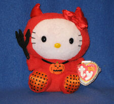 TY HELLO KITTY BEANIE BABY IN RED DEVIL COSTUME - MINT with NEAR PERFECT TAG